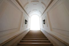 Doorway to heaven. White light Stock Photography