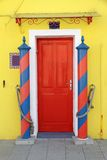 Doorway to the home in Burano Stock Photos