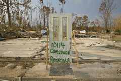 Doorway to house totally destroyed by Hurricane Ivan in Pensacola Florida Stock Photos