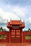 Doorway to King Rama II Memorial Park. Thailand. This park was built under the project to honour King Rama II, run by the King Rama II Phraboromrachanusorn stock photo