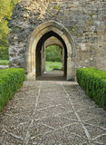 Doorway to Minster Lovell Hall. Cobbled path & doorway to Minster Lovell Hall, Oxfordshire Royalty Free Stock Image
