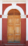 Doorway to Old Train Station in Granada Royalty Free Stock Image