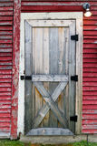 Doorway to Red Barn Royalty Free Stock Photos