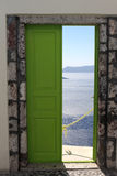 Doorway to sea Royalty Free Stock Images