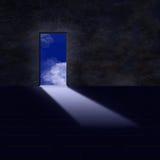 Doorway to sky. Doorway open up to sky from darkened room Royalty Free Stock Images