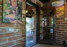 Doorway at Tohono Chul Park restaurant, Tucson, Arizona Stock Image