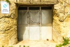 Doorway. A typical doorway in Sicily, Italy stock photography