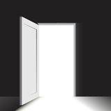 Doorway in a very dark room Royalty Free Stock Photos