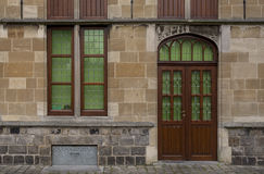 Doorway and window in Belgium Royalty Free Stock Images