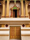 Doorway & Window at Wat Thatluang Neua, Vientiane Stock Image