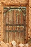 Doorway. A wooden doorway in a building at the village of Tafraoute, Morocco Stock Photography