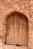 Doorway. A wooden doorway in one of the alleys of the Ksar of Ait Ben Haddou, Morocco Royalty Free Stock Photography