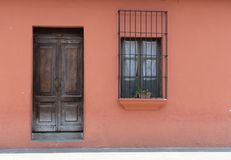Doorways and entries in Antigua Guatemala. Doorways entries and windows found on the streets of Antigua Guatemala royalty free stock images