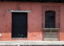 Doorways and entries in Antigua Guatemala. Doorways entries and windows found on the streets of Antigua Guatemala stock photo