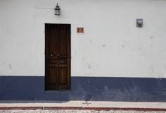 Doorways and entries in Antigua Guatemala stock photography