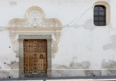 Doorways and entries in Antigua Guatemala. Doorways entries and windows found on the streets of Antigua Guatemala royalty free stock photos