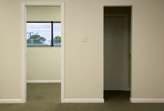 Doorways in office space Royalty Free Stock Photos