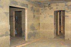 Doorways in walls of fibrolite plates Stock Image