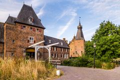 Doorwerth城堡海尔德兰省荷兰 免版税库存图片