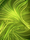 Doorwevende abstracte groene krommen het 3d teruggeven Stock Fotografie