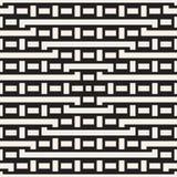 Doorwevende Lijnen Maze Lattice Etnische Zwart-wit Textuur Vector naadloos patroon Stock Afbeelding