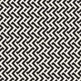 Doorwevende Lijnen Maze Lattice Etnische Zwart-wit Textuur Vector naadloos patroon Stock Afbeeldingen