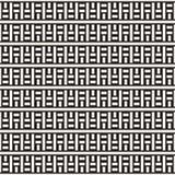 Doorwevende Lijnen Maze Lattice Etnische Zwart-wit Textuur Vector naadloos patroon Royalty-vrije Stock Foto
