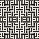 Doorwevende Lijnen Maze Lattice Etnische Zwart-wit Textuur Vector naadloos zwart-wit patroon Stock Fotografie