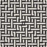 Doorwevende Lijnen Maze Lattice Etnische Zwart-wit Textuur Vector naadloos zwart-wit patroon Royalty-vrije Stock Afbeelding