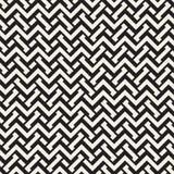 Doorwevende Lijnen Maze Lattice Etnische Zwart-wit Textuur Vector naadloos zwart-wit patroon Royalty-vrije Stock Afbeeldingen