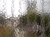 Doorzichtig pentagoon berijpt glasvenster Stock Afbeeldingen