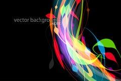 Doorzichtige de scènevector van de kleurenvorm stock illustratie