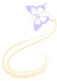 Doorzichtige vlinder Beeld Geschikt voor achtergrond Royalty-vrije Stock Afbeeldingen