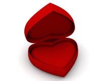 Doos als hart vector illustratie