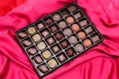 Doos chocolade Royalty-vrije Stock Fotografie