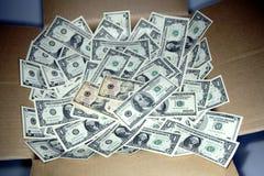 Doos Contant geld Stock Afbeelding