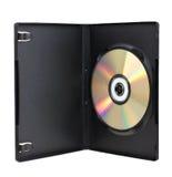 Doos DVD met schijf Royalty-vrije Stock Foto's