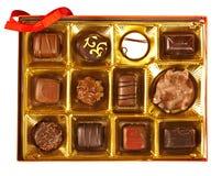 Doos chocolade Stock Fotografie