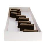 Doos met chocolade royalty-vrije stock afbeeldingen