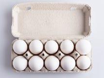 Doos met eieren Royalty-vrije Stock Afbeeldingen
