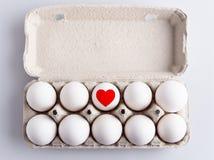 Doos met eieren Royalty-vrije Stock Foto's