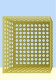 Doos met gaten. vector illustratie