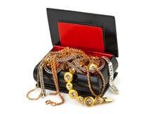 Doos met juwelen Stock Fotografie