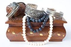 Doos met juwelen Royalty-vrije Stock Foto's