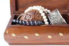 Doos met juwelen Stock Foto