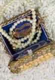 Doos met parels Royalty-vrije Stock Foto