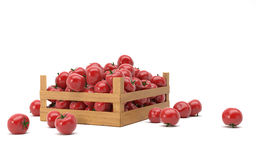 doos met tomaten Royalty-vrije Stock Foto's