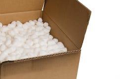 Doos met verpakking ?pinda's? Stock Foto