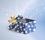 Doos van de Kerstmis de magische gift Stock Illustratie
