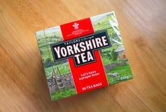 Doos van de Theezakjes van Yorkshire royalty-vrije stock afbeeldingen